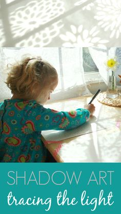 Kids Shadow Art :: Tracing the Light - Such a simple and beautiful art activity for children!
