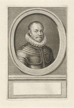 Jacob Houbraken | Portret van Willem I, prins van Oranje, Jacob Houbraken, Cornelis Visscher (I), 1770 - 1772 | Buste naar rechts van Willem I, prins van Oranje, in een ovaal. Het portret rust op een plint waarop een leeg veld voor zijn naam.