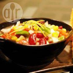 Summer Bean and Sweetcorn Salad Recipe Salad Bar, Soup And Salad, Sweet Corn Salad Recipe, Salad Recipes, Healthy Recipes, Savoury Recipes, Corn Salads, Bean Salad, Salads