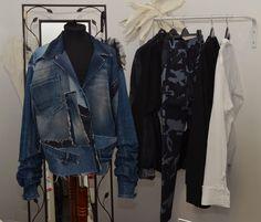 Wardrobe Rack, Showroom, Denim, Jackets, Fashion, Down Jackets, Moda, Fashion Styles, Jacket
