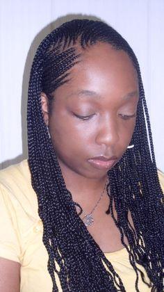 Flat long braids