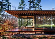 I saw this picture by Scott Frances, a glass/wood house by the architect Kengo Kuma located in new Canaan, Connecticut and was blown away by the beauty, fo