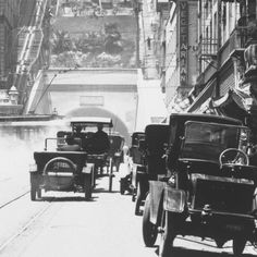 3rd street tunnel, Los Angeles 1910. Angles flight to the left...Vegetarians to the right???