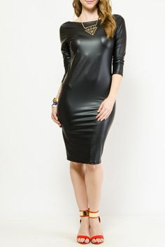 Femme Fatale Faux Leather Dress $16.99