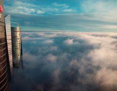 Mañana de niebla desde las Cuatro Torres.