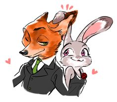 Jeez, I got it really bad for these two. Look at their ears intertwined. Been going through rough times lately. Needed to share. Disney Zootropolis, Deco Disney, Cute Disney, Disney Movies, Zootopia Nick Wilde, Zootopia Nick And Judy, Zootopia Judy Hopps, Zootopia Fanart, Disney Crossovers