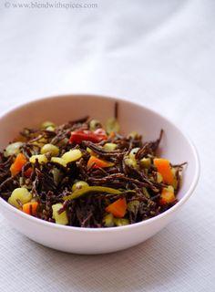 Vegetable Ragi Semiya Upma Recipe