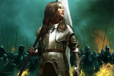 I don't know if this is intended to be Saint Joan of Arc, but it reminds me of her!