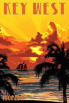 Key West, Florida - Sunset and Ship. Make your own memories at Sunriver. http://village-properties.com, 1-800-SUNRIVER.