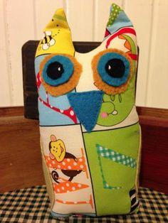 Safari OWL Toddler Boy Nursery Room Decor Fabric Doll Pillow