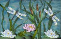 Free Stained Glass Patterns Flowers | Stained Glass Pattern Lily Pads and Critters