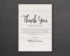 Etsy :: Your place to buy and sell all things handmade Wedding Card Templates, Thank You Cards, Etsy Seller, Invitations, Personalized Items, Words, Handmade, Appreciation Cards, Craft