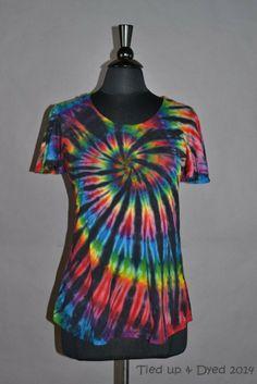 Night Rainbow tie dye flowy top Hippie clothes by TiedUpandDyed, $35.00