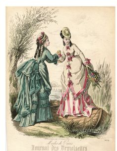 Journal des Demoiselles archive plate numbers 3800-3900. Visit our fashion plate archive. Daily updates. Shop for Victorian prints, journals