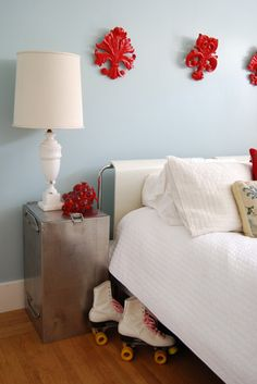 Red And Blue Pale Bedrooms Bedroom Master Walls
