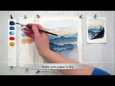 In this 7 minute tutorial you will study how to paint sky and mountains using basic watercolor techniques. Materials: 140 lb watercolor paper, 3 different size brushes, 5 watercolors (Paynes Grey, French Ultramarine, Cerulean Blue, Winsor Red, Raw Sienna), paper towel.