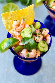 This shrimp ceviche recipe is easy to make and full of bright and zesty flavor! Serve this ceviche as an appetizer or a light meal, it's perfect for any occasion that calls for a meat-free menu! Shrimp Ceviche, Ceviche Recipe, Seafood Recipes, Cooking Recipes, Clean Eating, Healthy Eating, Ginger Cookies, Soup And Sandwich