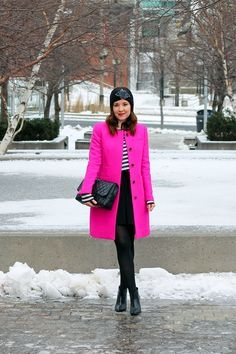 A Bright Pink J.Crew Coat to Cure the Winter Blues
