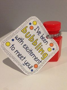Clever back to school gift for kids! I've been bubbling to meet you!