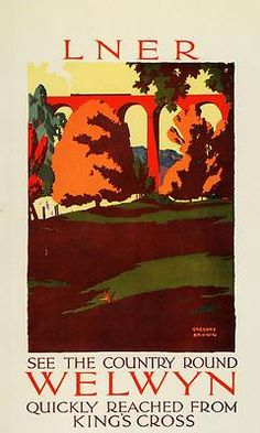 LNER -- London and North Eastern Railway Train Poster