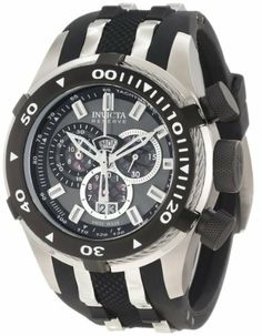 Invicta Men's 0976 Bolt II Reserve Chronograph Gunmetal Grey Dial Watch Invicta. $233.33. Chronograph functions with 60 second, 30 minute, 12 hour and 1/10th of a second subdials; day and date function. Water-resistant to 200 M (660 feet). Grey dial with silver tone hands and hour markers; luminous; unidirectional stainless steel outer bezel with black ring and twisted wire accents; tachymeter on inner bezel; black textured pushers and screw-down crown. Swiss quartz movement. Fla...