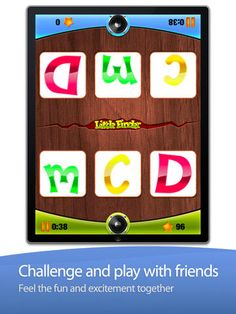 "Little Finder ABC by Innovative Mobile Apps ($0.00) hidden objects game designed to help kids learn their letters. Not only that, this also is the only ABC game with a 2 player mode so you can play with your friends and race to find your letters before the other player does.   Each game last just a minute or two so its an excellent break while on the go. However, be warned... once you start you will find an irresistible urge to go at it ""just one-more-time."""