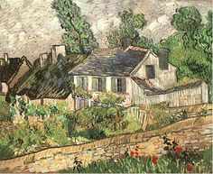 Van Gogh Houses in Auvers  Oil on canvas  60.6 x 73.0 cm.  Auvers-sur-Oise: June, 1890