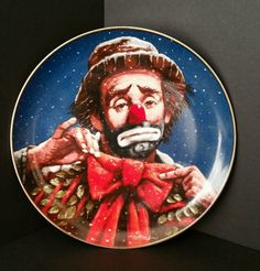 Emmett Kelly Circus Collection Annual Christmas Series Christmas Wreath Plate