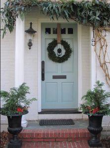 Lime Green Front Door Dark Gray House Paint White Trim