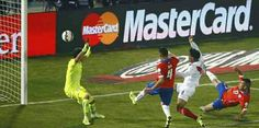 Chile 2 Peru 1 in 2015 in Santiago. Gary Medel scores a own goal on 60 minutes and its 1-1 in the Semi Final of Copa America.