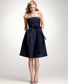 Ann Taylor: Silk Taffeta Strapless Bridesmaid Dress