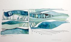 Honoring The Muse Abstract Watercolor Art, Watercolor Landscape, Watercolor And Ink, Landscape Art, Watercolor Pallet, Watercolor Border, Inspiration Artistique, Drawn Art, Guache