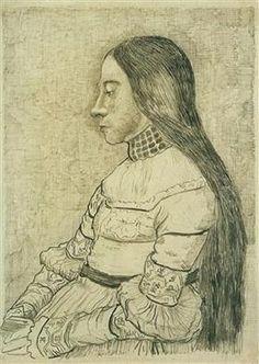 Daughter of Jacob Meyer - Vincent van Gogh