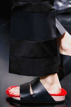 """Céline's fur-lined spring 2013 flat sandals or """"furkenstocks"""" as they call them, are next season's new it-shoe"""