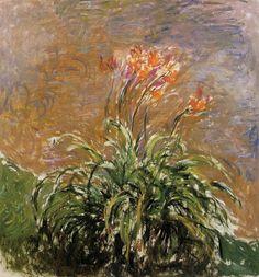 Les Hémérocalles, Claude Monet, Musée Marmottan-Monet, Paris. Vers 1914-1917. Huile sur toile, 150x140cm
