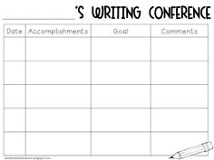 Writing Conference {Freebie}