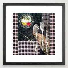 Late night dinner Framed Mini Art Print by bozenawojtaszek Late Night Dinner, Late Nights, Kitchen Art, Kitchen Stuff, Kitchen Decor, Mini Quilts, Framed Art Prints, Fun, Aprons