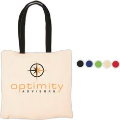 Econo Cotton Tote - 4 oz. Cotton - Natural cotton tote with contrasting handles, an Eco-Responsible (TM) product.