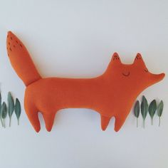 Huckleberry the stuffed toy fox, orange woodland fox, woodland nursery, fall kids, autumn kids, woodland decor, fox plushie, fox pillow