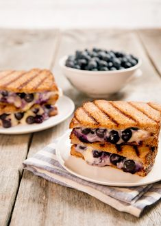 Blueberry Grilled Cheese Sandwiches