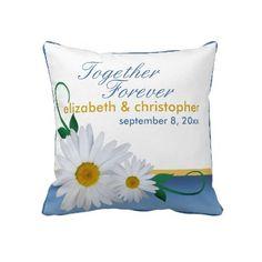 Fresh Daisies Custom Wedding Pillow