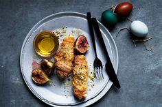 Cauliflower Recipes, Roasted Cauliflower, Masterchef Recipes, Roasted Figs, Masterchef Australia, Greek Easter, Greek Desserts, Fig Recipes, Roasted Sweet Potatoes