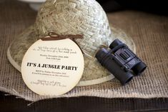 So cute!! Jungle party invite!!
