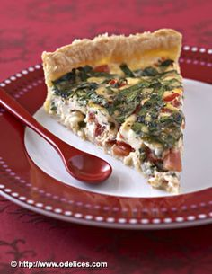 Photo de la recette : Tarte aux tomates, épinards et comté