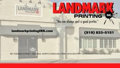 Google+ header design for Landmark Printing Inc in Raleigh NC