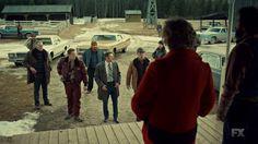 "Fargo 2x03 ""The Myth of Sisyphus"" - Dodd Gerhardt (Jeffrey Donovan), Floyd Gerhardt (Jean Smart), Lou Solverson (Patrick Wilson) & Ben Schmidt (Keir O'Donnell)"