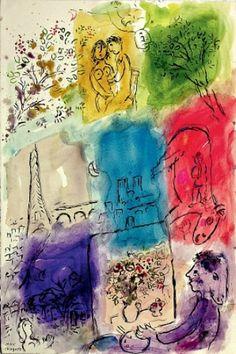 Marc Chagall | Paris through my window | 1913