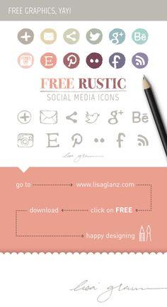 Free social media icons! go to: http://www.lisaglanz.com