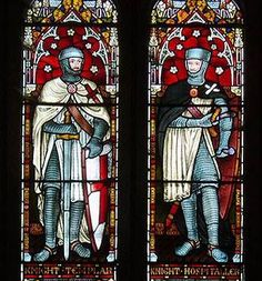 Knight Templar and Knight Hospitaller stained glass window
