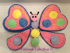 I made a cake! Follow me on Instagram @cakewalkcakeshop #cupcake #butterfly #birthday #cake #cakewalkcakeshop